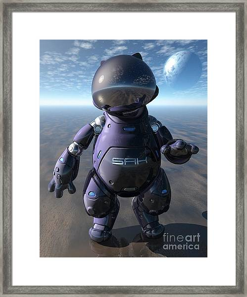 Astrokat Framed Print by Sandra Bauser Digital Art