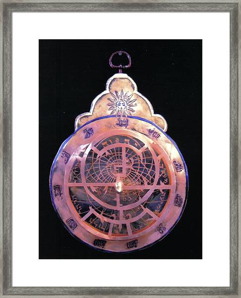 Astrolabe Prayer Framed Print