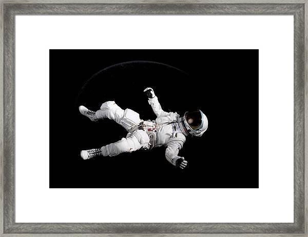 Astronaut Floating Framed Print by Rick Partington / EyeEm
