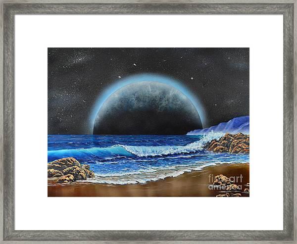 Astronomical Ocean Framed Print