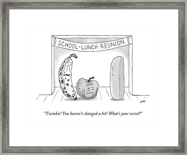 At A School Lunch Reunion Framed Print