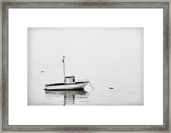 At Anchor Bar Harbor Maine Black And White Framed Print