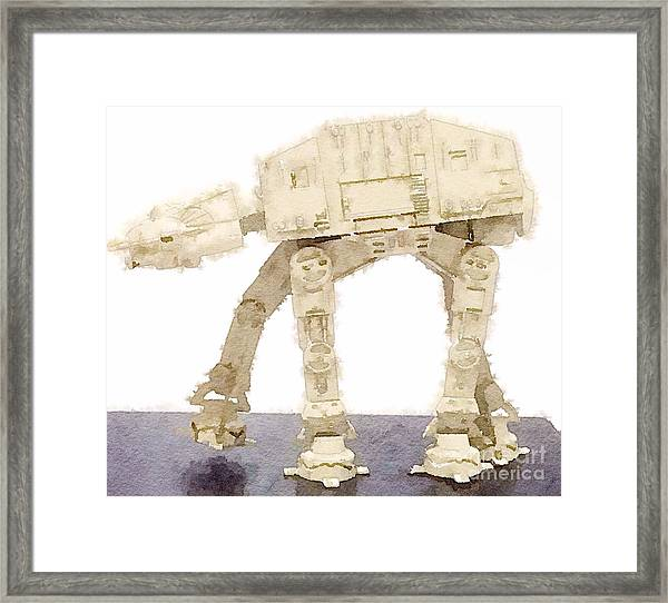 At-at All Terrain Armored Transport Framed Print