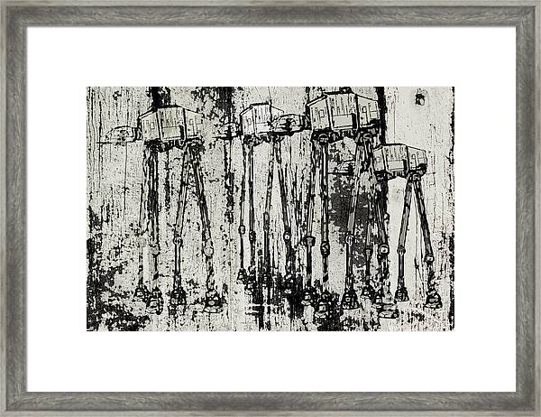 At - At Herd Framed Print by Andy Walsh