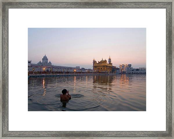 At Dawn Framed Print by Devinder Sangha