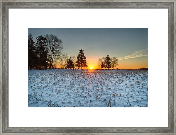 Framed Print featuring the photograph At First Light by Garvin Hunter