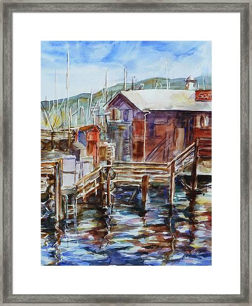 At Monterey Wharf Ca Framed Print