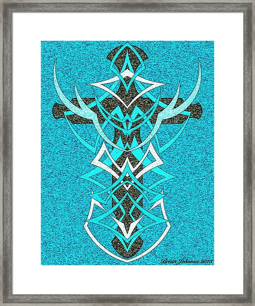 At The Cross Tile 2 Framed Print
