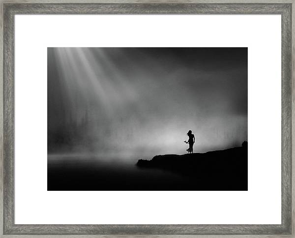 At The End Of Waiting. Framed Print
