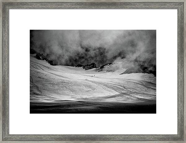 At The Foot Of Monte Rosa Framed Print