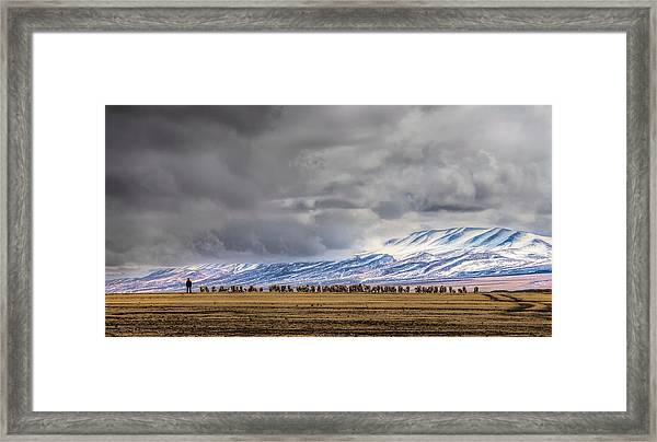 At The Foot Of The Tianshan Mountains Framed Print