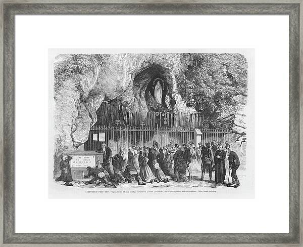At The Grotto, They Drink The Framed Print