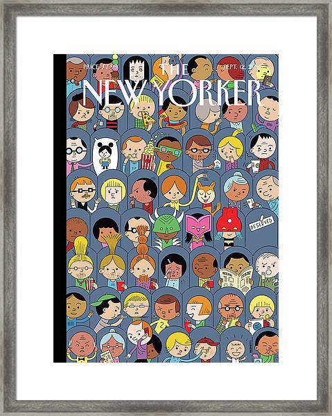 At The Movies Framed Print by Ivan Brunetti