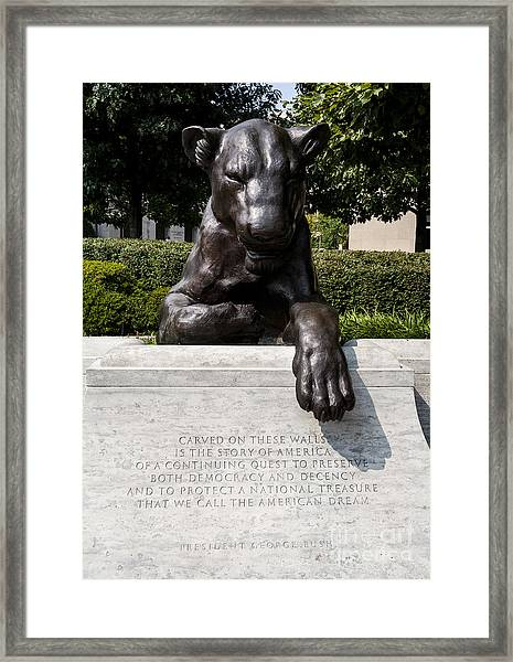 At The National Law Enforcement Officers Memorial In Washington Dc Framed Print
