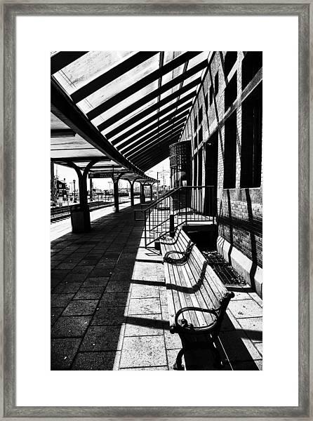 At The Station Framed Print