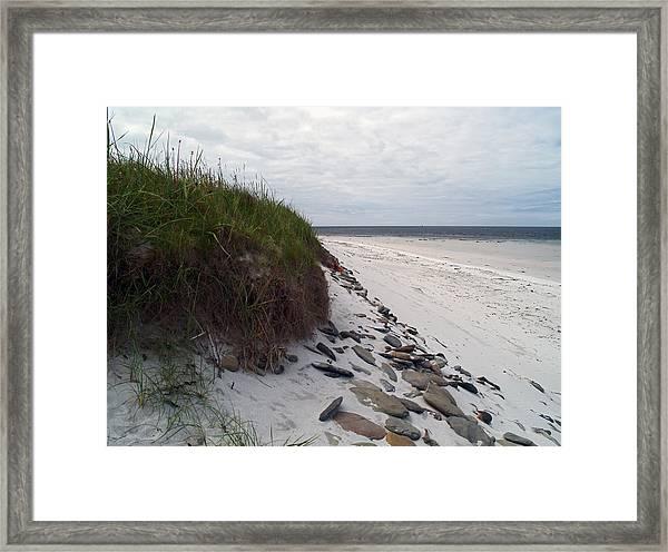 At Whitemill Bay Framed Print by Steve Watson
