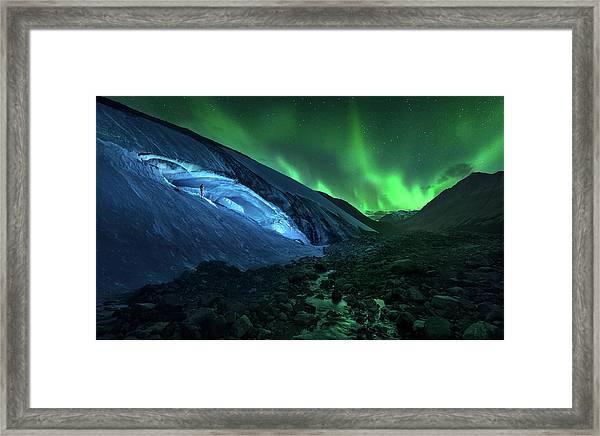 Athabasca Cave Framed Print