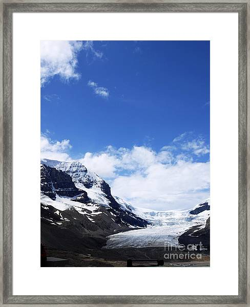 Athabascar Glacier Framed Print