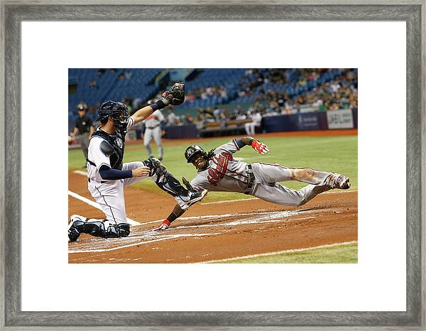Atlanta Braves V Tampa Bay Rays Framed Print