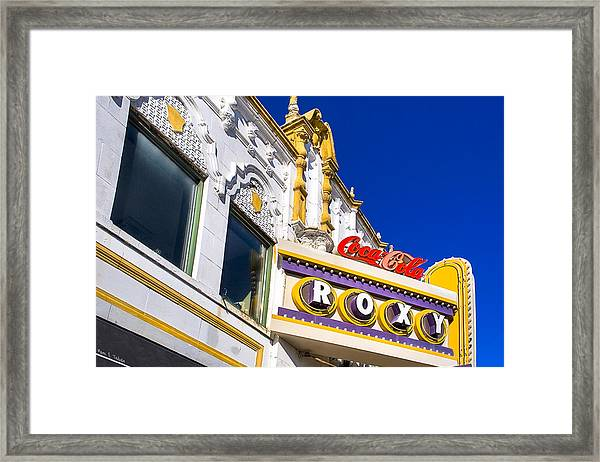 Atlanta Roxy Theatre Framed Print