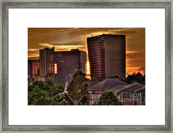 Georgia Power Building Sunset Framed Print