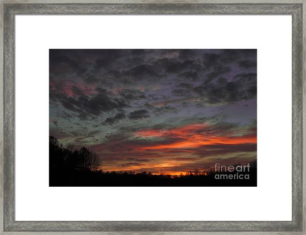 Atlanta Sunset Framed Print