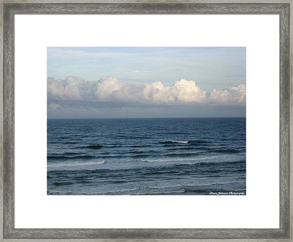 Atlantic At Daytona Beach Framed Print