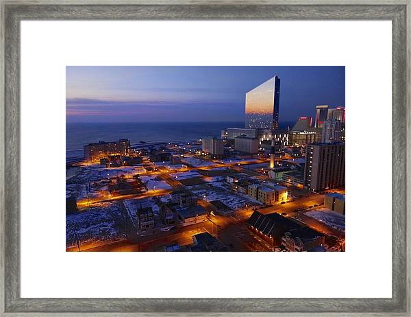 Atlantic City At Dawn Framed Print
