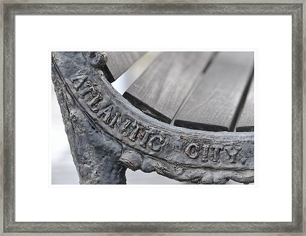 Atlantic City Bench Framed Print