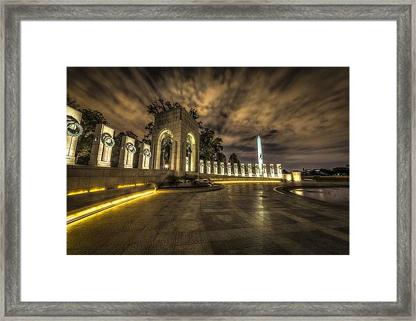 Atlantic Side Of The World War II Memorial Framed Print
