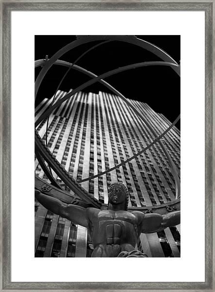 Atlas Rockefeller Center Framed Print