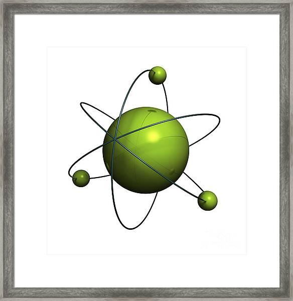 Atom Structure Framed Print