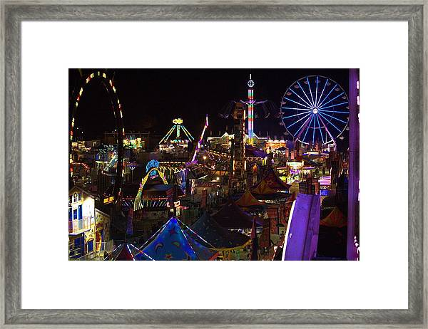 Atop The Carnival Framed Print