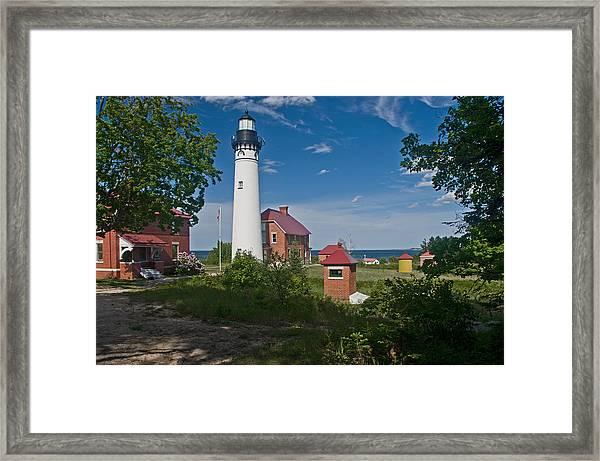 Au Sable Point Lighthouse  Framed Print
