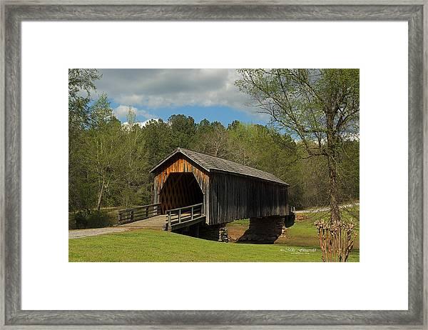 Auchumpkee Creek Covered Bridge Framed Print