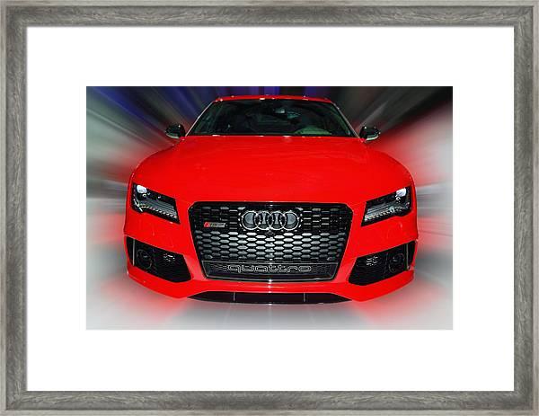 Audi Quattro Rs7 2014 Framed Print