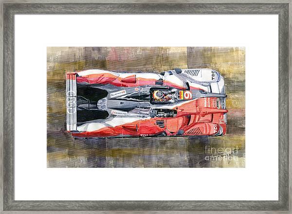 Audi R15 Tdi Le Mans 24 Hours 2010 Winner  Framed Print