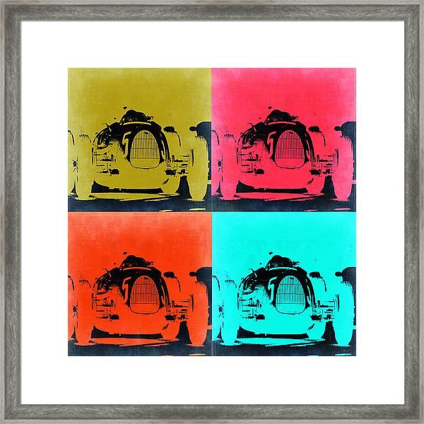 Audi Silver Arrow Pop Art 2 Framed Print