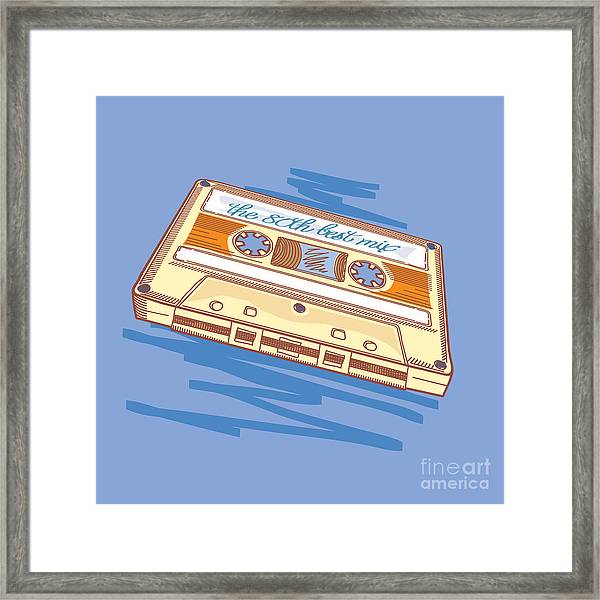 Audio Cassette Framed Print