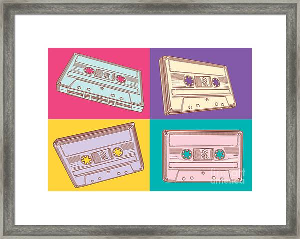 Audio Cassettes Framed Print