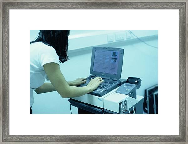 Auditory Brainstem Response Equipment Framed Print