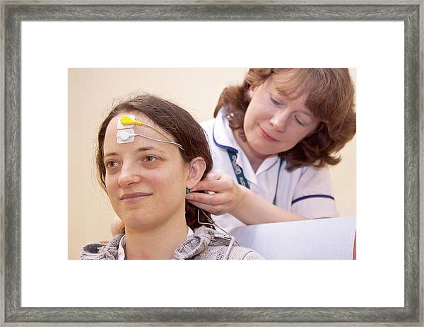 Auditory Brainstem Response Test Framed Print
