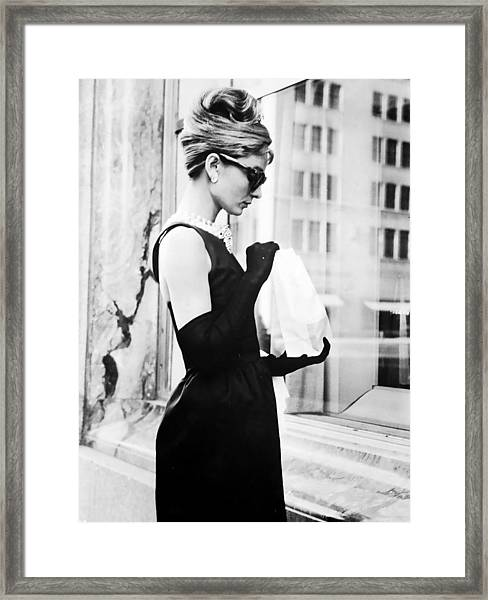 Audrey At Tiffanys Framed Print