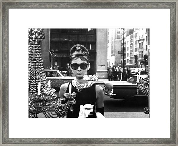 Audrey Hepburn Breakfast At Tiffany's Framed Print