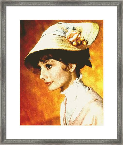 Audrey Hepburn - Impressionism Framed Print