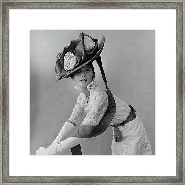 7b69981f96196 Audrey Hepburn Wearing A Givenchy Hat · Cecil Beaton ·  145 · Audrey Hepburn  In Costume For My Fair Lady Framed Print