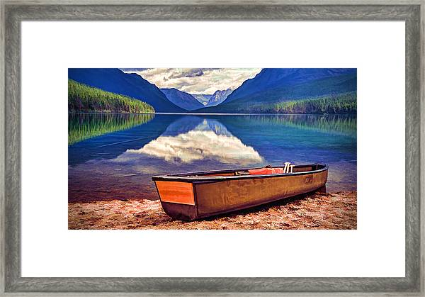 August Afternoon At The Lake Framed Print