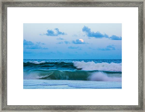 Framed Print featuring the photograph August Blue Moon by Francis Trudeau