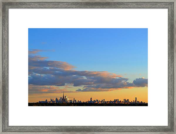 August Early Evening Toronto 4  Framed Print by Lyle Crump