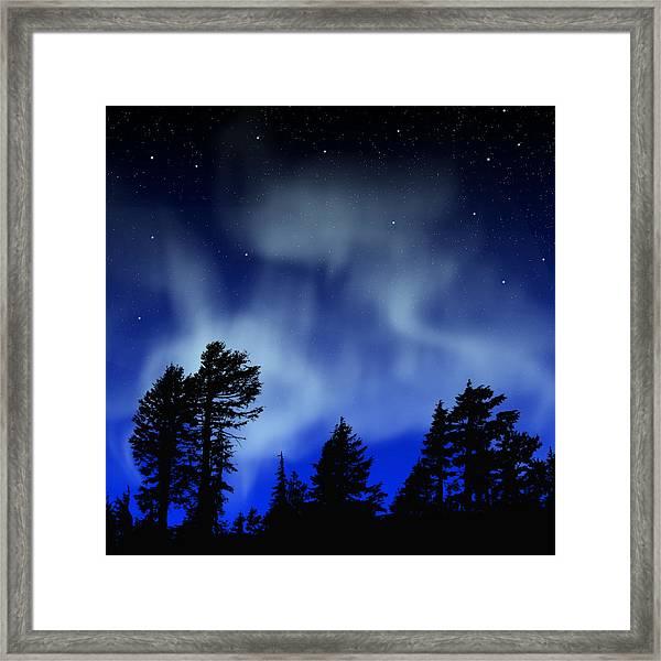 Aurora Borealis Wall Mural Framed Print